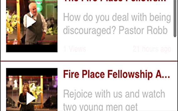 The Fire Place Fellowship apk screenshot
