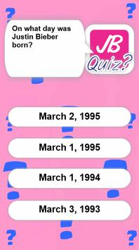 Quiz Justin Bieber apk screenshot
