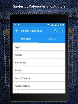 Pocket Quotations apk screenshot