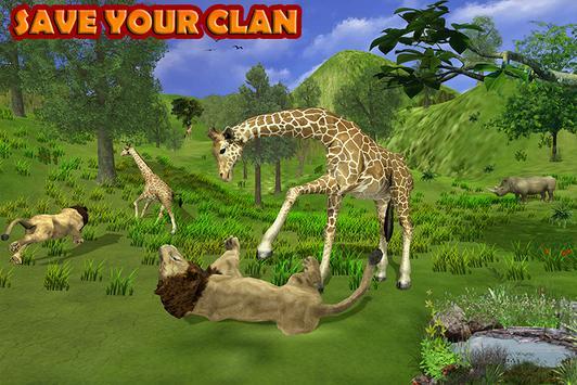 Giraffe Family Jungle Simulator screenshot 2