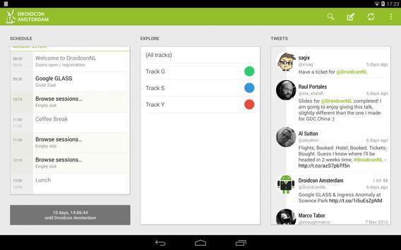 Droidcon NL 2013 apk screenshot