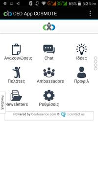 CEO App COSMOTE poster