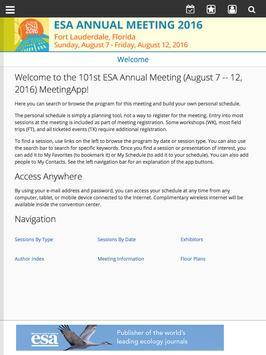 ESA 2016 Annual Meeting screenshot 6