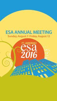 ESA 2016 Annual Meeting poster