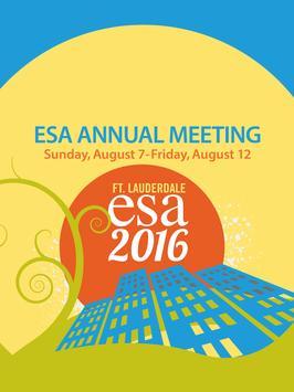 ESA 2016 Annual Meeting screenshot 10
