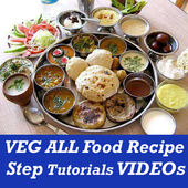 ALL Indian Veg Easy Cooking Food Recipes VIDEO App icon