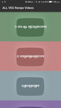 ALL Indian Veg Easy Cooking Food Recipes VIDEO App poster