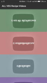 ALL Indian Veg Easy Cooking Food Recipes VIDEO App apk screenshot