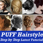 PUFF Hairstyle Step by Step VIDEO App Girls Women icon