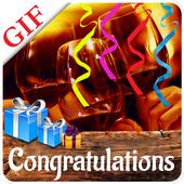 Congratulations Animated GIF icon
