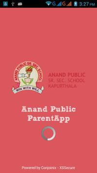 Anand Public School ParentsApp poster