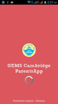 GEMS Cambridge  Parents App poster