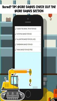 construction games free: Kids screenshot 10