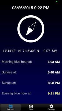 BlauTime - Blue hour poster