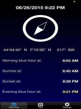 BlauTime - Blue hour apk screenshot