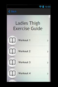 Ladies Thigh Exercise Guide apk screenshot