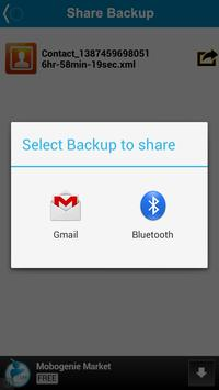 Backup My Contacts apk screenshot