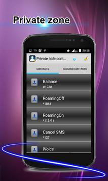 Private hide contacts screenshot 1