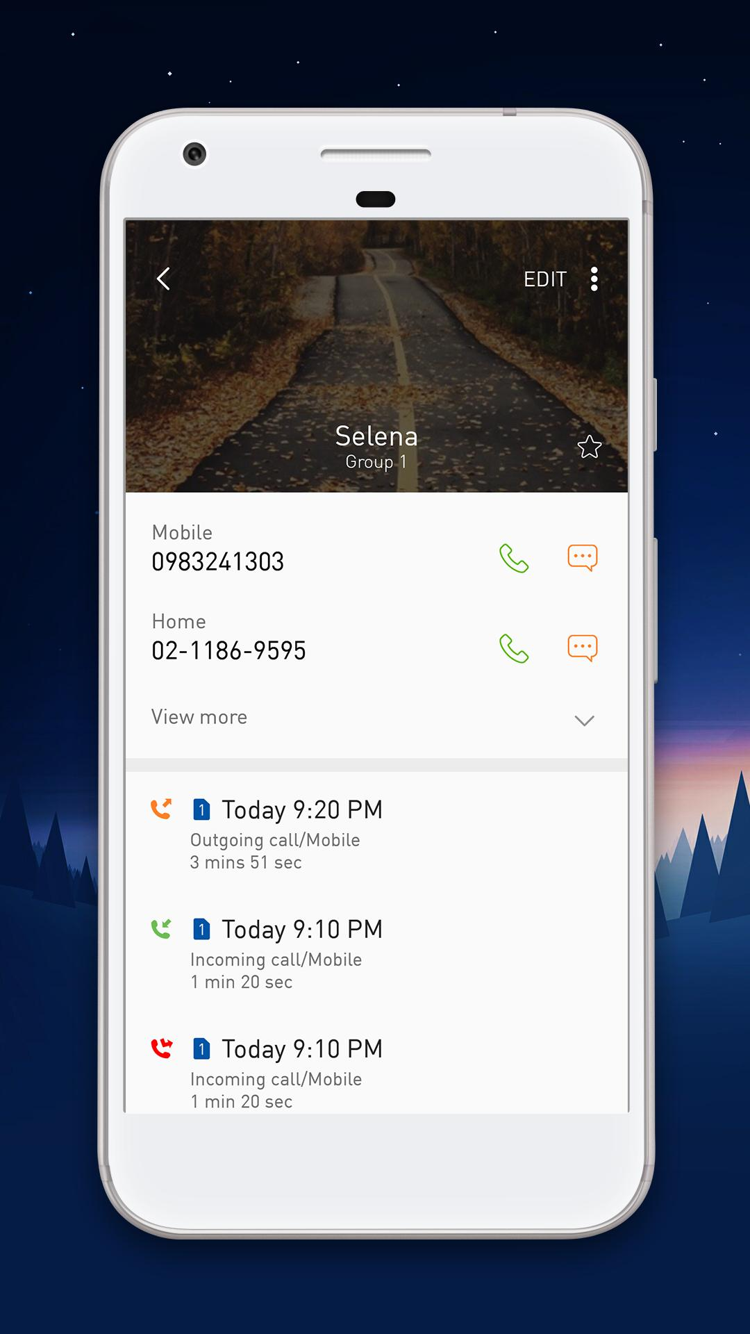 Contacts Style Samsung S8 & Fullscreen Caller ID for Android