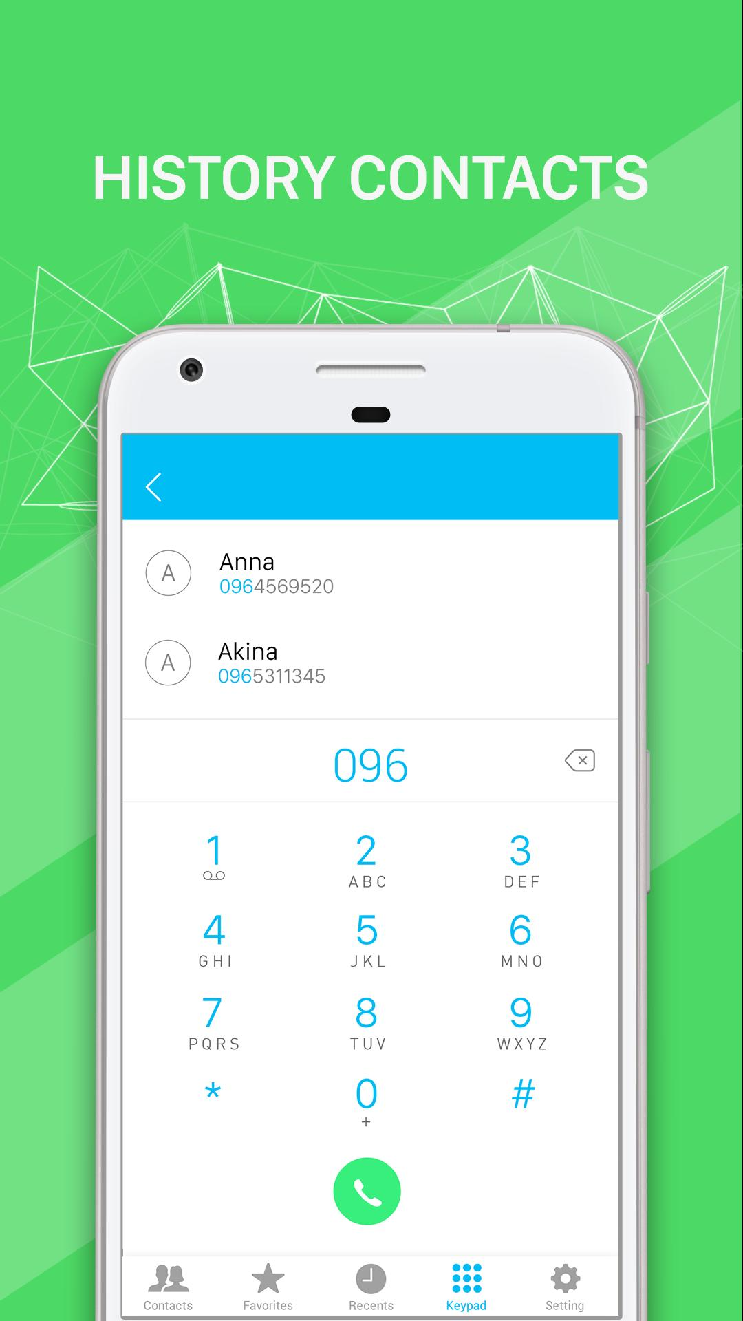 Contacts, Dialer, Caller ID: iContact IOS Phone X for