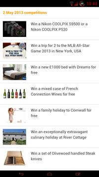 Competitions UK - Free Stuff screenshot 1