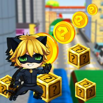 Fun Cat Noir Run apk screenshot