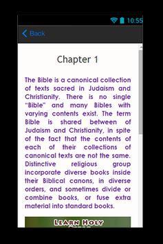 Learn Holy Bible apk screenshot
