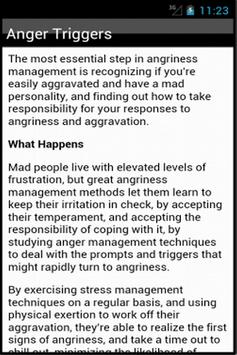 How To Control Anger apk screenshot