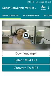 Super Converter : MP4 To MP3 poster