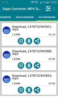 Super Converter : MP4 To MP3 apk screenshot