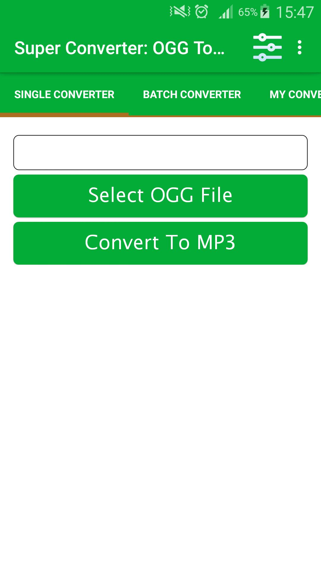 Super Converter : OGG To MP3 for Android - APK Download