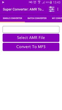 Super Converter : AMR To MP3 poster