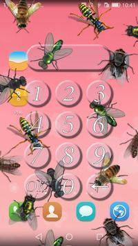 Flies lock screen prank apk screenshot