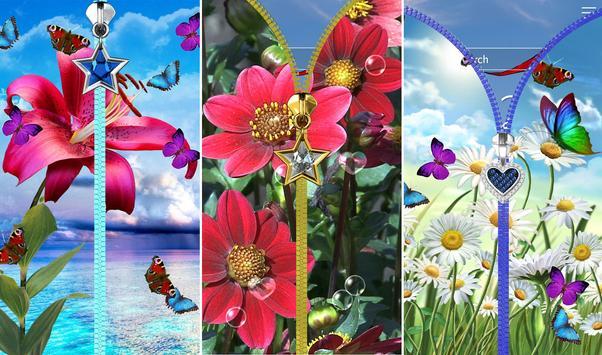 Flowers lock screen. apk screenshot