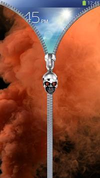 Smoke lock screen. Zipper poster
