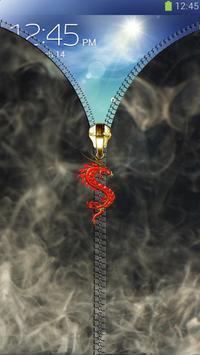 Smoke lock screen. Zipper apk screenshot