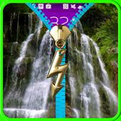 Waterfall lock screen. Zipper. icon