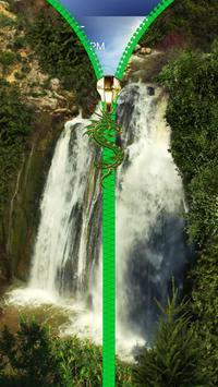 Waterfall lock screen. Zipper. apk screenshot