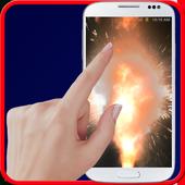 Explosion screen simulator prank icon