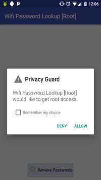 Wifi Password Lookup [Root] apk screenshot