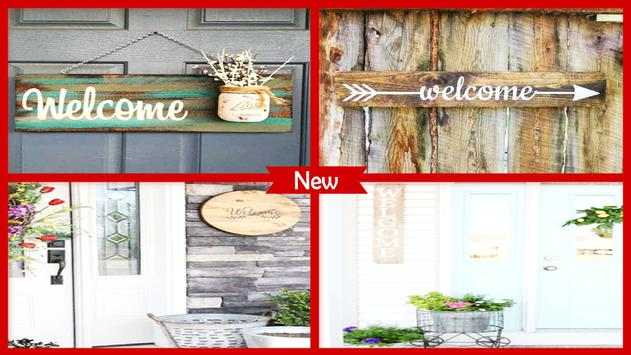 DIY Welcome Porch Sign poster
