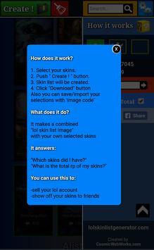 Lol Skin List Generator X apk screenshot