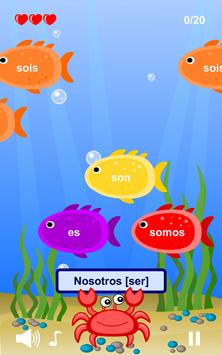 Spanish Verbs Learning Game poster