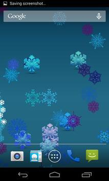 Colorful Snowflakes LWP apk screenshot