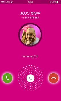 Call from Jojo Siwa phone number Prank poster