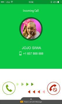 Call from Jojo Siwa phone number Prank screenshot 2