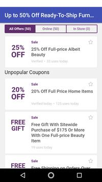 Coupons for Anthropologie screenshot 6