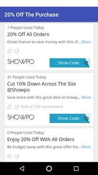 Coupons for Showpo screenshot 4