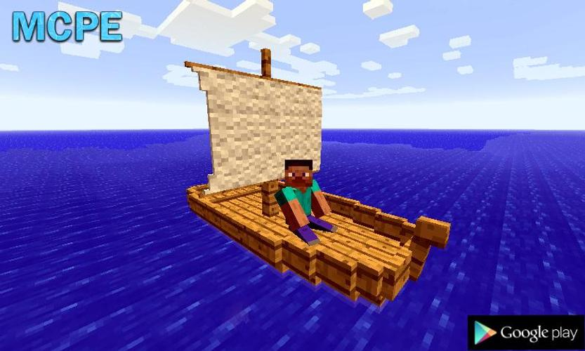 Лодка в майнкрафт