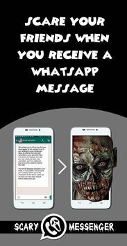 Scary Messenger - Terror Game syot layar 1